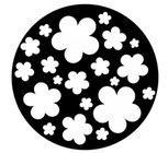 Retro Flowers Steel Gobo