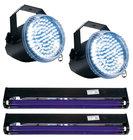 Features 2 x Big Shot LED II, 2 x BLACK-24BLB