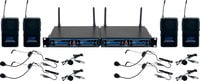 Four Channel UHF/DSP Hybrid Bodypack Wireless Microphone Package, Includes Bag