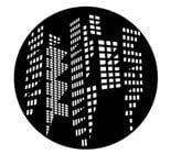 Lit Buildings Steel Gobo