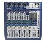 12-Input Compact Analog Mixer with Onboard Effects and 2x2 USB Interface