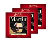 3-Pack of Light Martin 80/20 Bronze Acoustic Guitar Strings