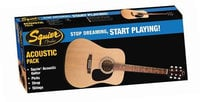 Gloss Natural Dreadnought Acoustic Guitar Starter Pack