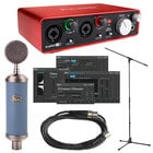 Audio Interface with Bluebird Cardioid Condenser Microphone and Accessories