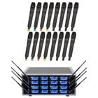 16 Channel PLL Wireless Microphone Package with Frequency Scan and IR Sync
