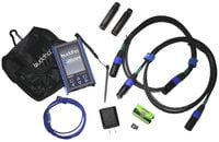 Advanced DMX Test Tool with Color Touchscreen, Case, and DMX Adapter