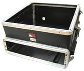Slant Top Console Rack Case (10 RU Top, 2 RU Bottom)