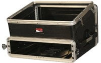 Slant Top Console Rack Case (8 RU Top, 2 RU Bottom)