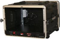 Gator Cases GRR6PLUS 6 RU Powered Lockable Rack Case (with Wheels)