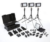 Litepanels 935-3101 Lykos Bi-Color Flight Kit 3 Lykos BiColor LEDs with Battery Bundle and Pelican 1510 Custom Foam Case