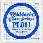 "D`Addario PL011 .011"" Plain Steel Guitar String"