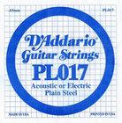 "D`Addario PL017 .017"" Plain Steel Guitar String"