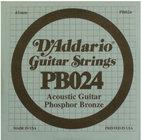 D`Addario PB024 .024 Phosphor Bronze Acoustic Guitar String