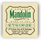 D`Addario J75 Medium/ Heavy Phosphor Bronze Mandolin Strings