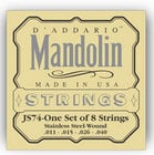 D`Addario JS74 Medium Stainless Steel Mandolin Strings JS74