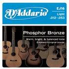 D`Addario EJ16 Light Phosphor Bronze Acoustic Guitar Strings