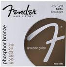 Fender 60XL .010-.048 Extra Light Phosphor Bronze Acoustic Guitar Strings