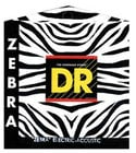 DR Strings ZAE-11 Medium-Light ZEBRA Nickel-Plated Steel/RARE Phosphor Bronze Acoustic/Electric Guitar Strings ZAE-11