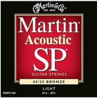 Martin Strings MSP3100 Light Martin SP Acoustic 80/20 Bronze Guitar Strings MSP3100