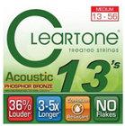 Cleartone 7413-CLEARTONE Medium Coated Acoustic Guitar Strings