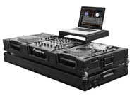 "Odyssey FZGSL12CDJWBL  Black Label Glide Style DJ Coffin Case with Wheels, Holds 12"" Mixer and 2 CD/Media Players FZGSL12CDJWBL"