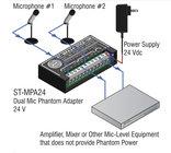 2-Channel, 24V Dual Microphone Phantom Adapter