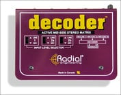 Radial Engineering Decoder Mid-Side Stereo Matrix and Microphone Preamplifier