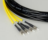 Camplex HF-TS04ST-1000 4-Channel Tactical Fiber Optical Snake 1000 ft Fiber Optic Snake with ST Single Mode Connectors