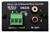 Rolls DB226  Stereo Line to Balanced Mono Converter DB226