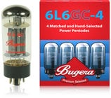 Bugera 6L6GC-4 Quartet of Matched 6L6 Power Vacuum Tubes