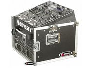 Odyssey FZ1006  Pro Combo Rack Flight Case with 10RU Top Slanted Rack & 6RU Bottom Vertical Rack