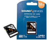 Sound Devices SAM-32SD  32GB SDHC Memory Card, 90MB/s Read and Write