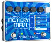 Electro-Harmonix STEREOMEMORYMANW/HAZ Stereo Memory Man with Hazari Digital Delay/Looper Pedal, PSU Included