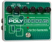 Electro-Harmonix Stereo Polychorus Analog Chorus/Flanger/Slapback Echo Pedal with Power Supply STEREOPOLYCHORUS