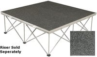 "Show Solutions DD-4824C  48"" x 24"" Carpet Covered Duro Deck Platform"