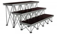 """Show Solutions Inc DD-4812R24  4ft x 1ft 24"""" Stair Package with 3 steps"""