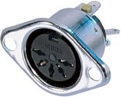 Neutrik NYS325  DIN Female Chassis Connector, 5-pole, Silver Contacts