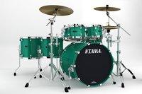 5 Piece STAR Drum Walnut Shell Pack in Mint Green Mist Finish