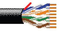 Belden 2412-1000-ORANGE 1000 ft Reel of Unshielded Cat6+ Nonbonded-Pair Cable, Orange