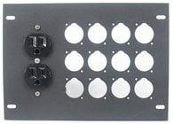 Elite Core Audio FBL-PLATE-12+AC  Insert Plate for FBL Series Floor Boxes, with AC Duplex - No Connectors
