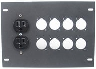 Elite Core Audio FBL-PLATE-8+AC  Insert Plate for FBL Series Floor Boxes, with AC Duplex - No Connectors