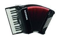 Hohner BR48B-N Bravo II 48 Lightweight Accordion, Black