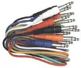 "Hosa CSS-890 3 ft. Stereo 1/4"" Male to Stereo 1/4"" Male Patch Cables (Pack of 8)"