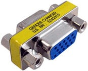VGA Coupler, 15-pin Female to 15-pin Female