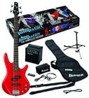 Ibanez IJXB150BRD Jumpstart Electric Bass Package with Red Electric Bass IJXB150BRD