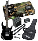 Ibanez IJRG220ZBK Jumpstart Pack with Black GRG Electric Guitar