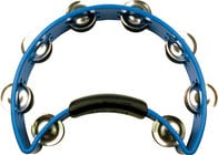 Rhythm Tech RT1040 Blue Nickel Tambourine with Nickel Steel Jingles RT1040
