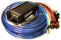 Whirlwind MD-8-4-2-C6-100 100 ft Medusa Data Snake with 8 XLR Inputs, 4 XLR Returns and 2 CAT6 Lines