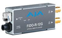 AJA Video Systems Inc FiDO-R-12G  1-Channel Single-Mode LC Fiber to 12G-SDI Receiver  FiDO-R-12G