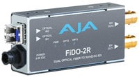 AJA Video Systems Inc FiDO-2R [RESTOCK ITEM] 2 Channel LC Optical to SD/HD/3G-SDI Converter with Power Supply FIDO-2R-RST-01